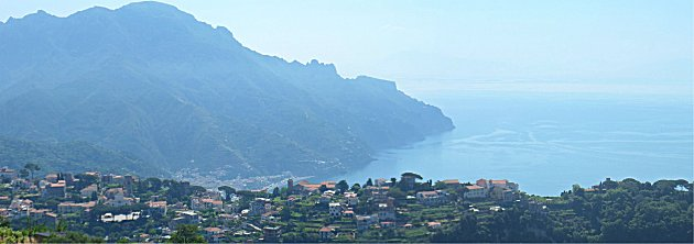 Ravello and the coast towards Salerno