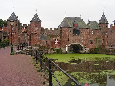 The old water gate and road gate at Amersfoort