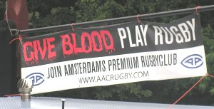 Give blood play rugby