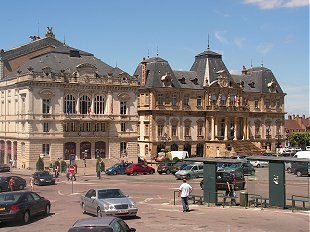 Theatre and Hotel de Ville at Autun
