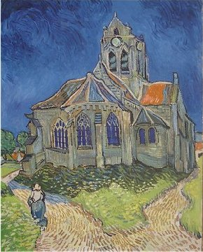 Auvers church by Vincent van Gogh