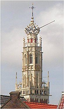 The Bakenesserkerk watch tower in Haarlem