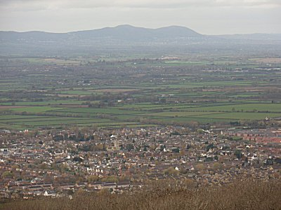 Bishops Cleeve with the Malverns behind