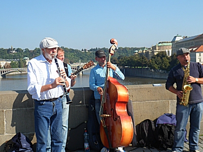 Jazz band on Charles Bridge