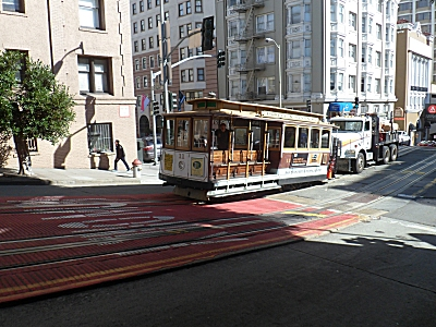 Broken down cable car