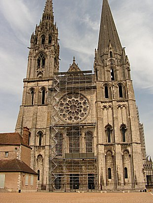 Exterior of Chartres Cathedral