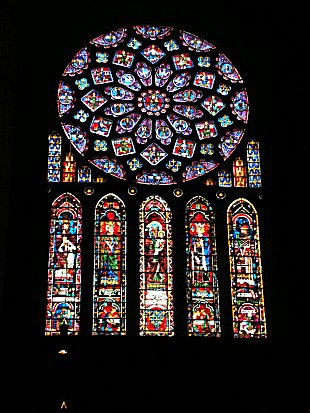 North Rose window at Chartres