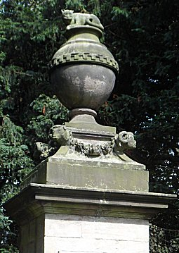 Cat monument at Shugborough Estate