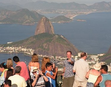 Tourists on Corcovado