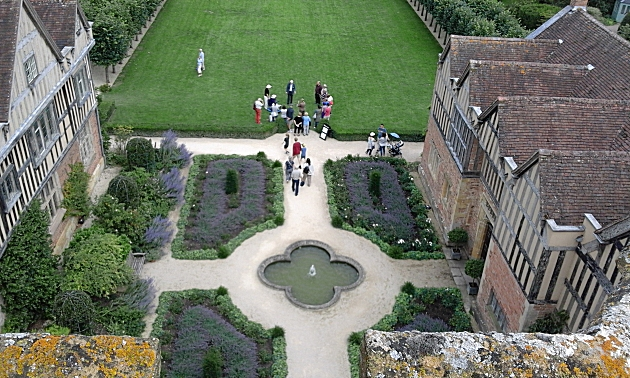 Coughton Court from the tower