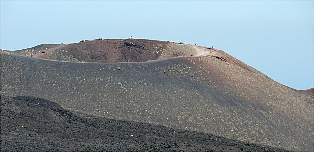 Crater on Etna from 1983 eruption