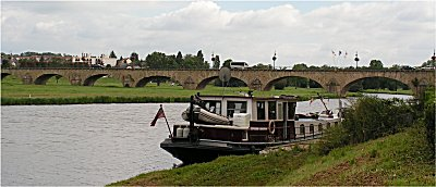 Mooring on the Vielle Loire in Decize