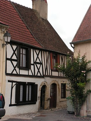 Half timbered houses at Decize