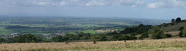 The view from Deer Leap on Mendip