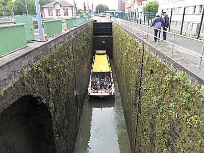 Top lock on the Canal St. Denis