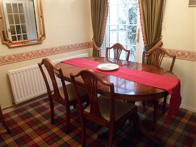 Edwardian dining table and chairs