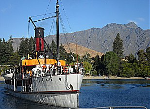 Steamship Earnslaw at Queenstown