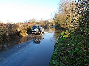 Flooding near Easter Compton