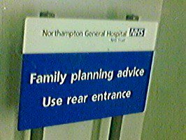 Northampton Family Planning Clinic Sign