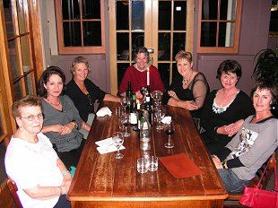 Joan, Chris Ward, Sue, Jean Harnett, Mary Croxson, Coleen Harnett and Barbara Trollope