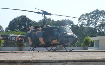 Helicopter on the roof of the Reunification Palace