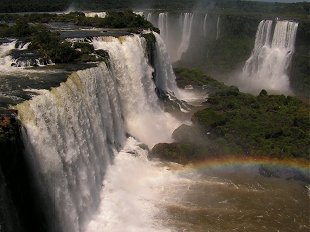 Iguacu - base of the waterfall Brazil