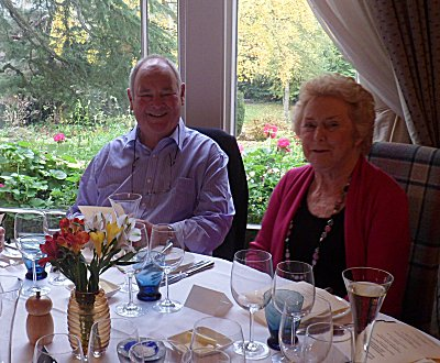 Jeremy and Ann Clifford at their 50th Wedding Celebation Lunch