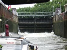 Lock on the River Marne