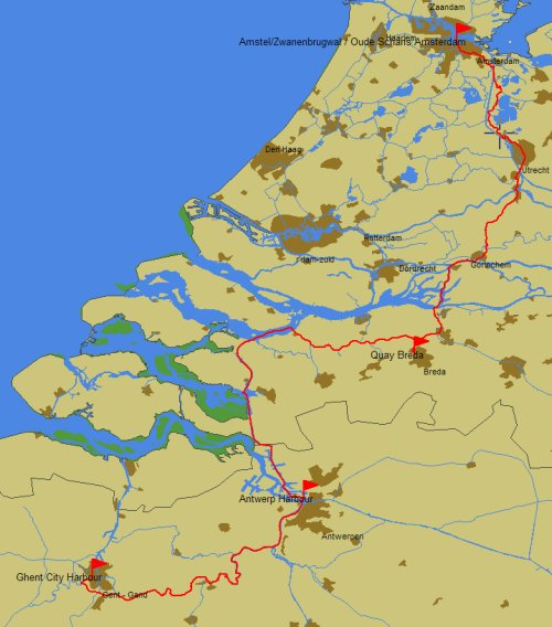 2010 route Amsterdam to Gent