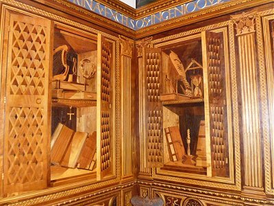 Marquetry in the Ducal palace, Gubbio.