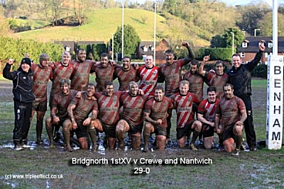 Bridgnorth firsts after a muddy game against Crewe