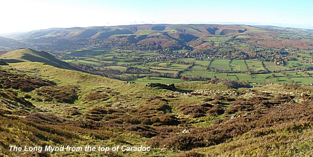 The Long Mynd from Caer Caradoc Hill