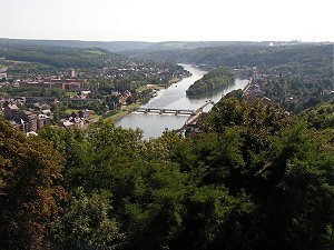 Looking up the Meuse valley from Namur citadel
