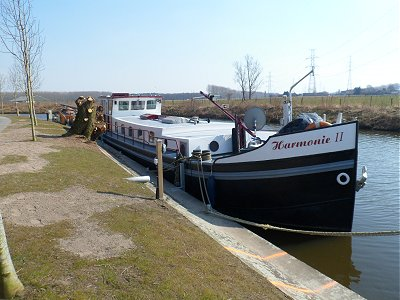 Our permanent mooring at Eeklo.