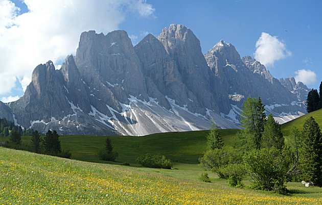 The Odle Mountains in the Dolomites