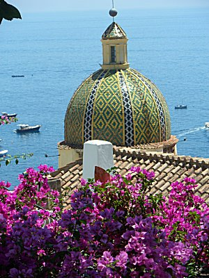 Positano church dome