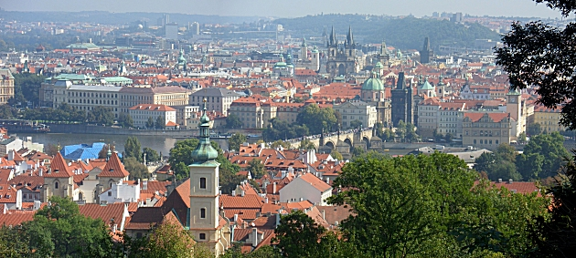 View over the Old Town from Petrin Hill