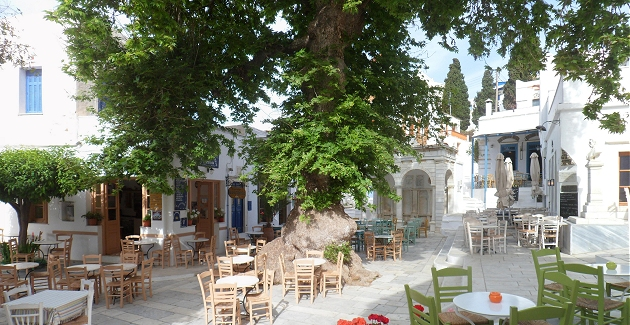 Pyrgos village square