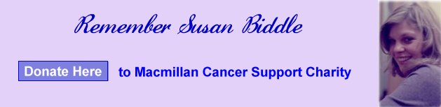 Click here to make a donation to Macmillan Charity in Sue's memory