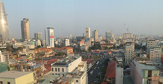 Saigon from the Golden Central Hotel