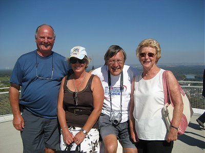 Jeremy, Sue, Roger & Anne on the Sancerre tower.