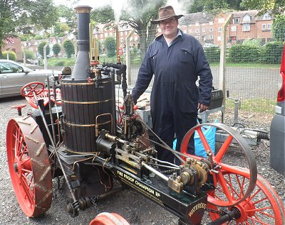 Replica steam tractor at Bridgnorth