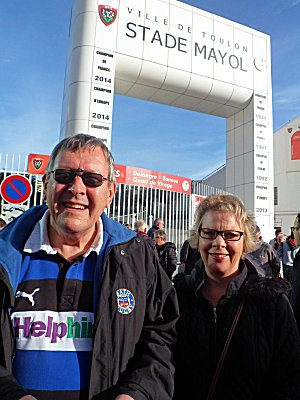 Sue and Roger at Stad Mayol