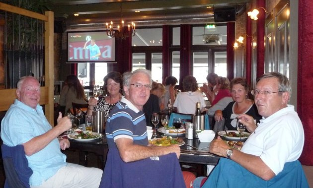 Dinner and World cup football in Sneek