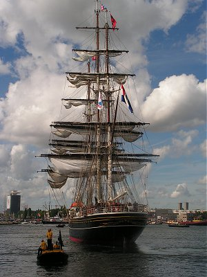 Stad Amsterdam arriving at Sail Amsterdam 2010