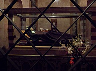 The tomb of St Clare