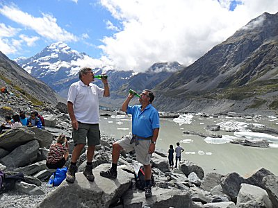 That Steinlager moment under Mount Cook