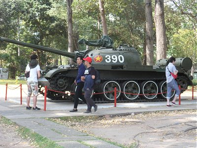 Tank in the grounds of the Reunification Palace