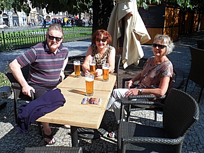 Terri, Byron and Sue in Old Town Square Prague