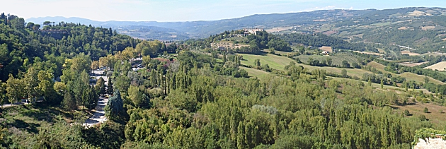 The Tiber valley from Todi